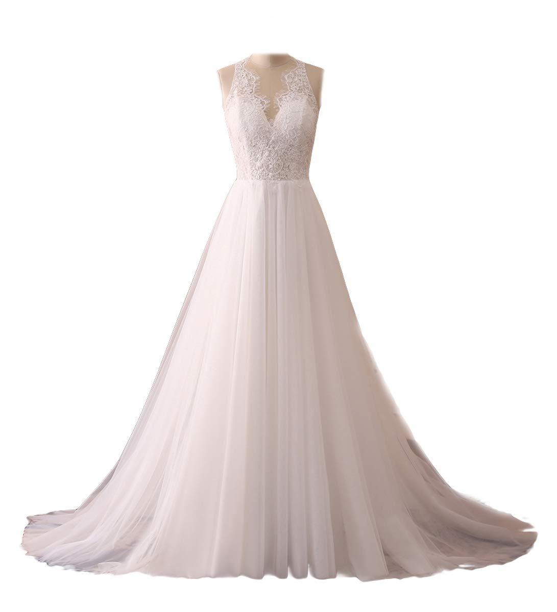 ASA Bridal Women's Vintage Cap Sleeve Lace Wedding Dress A Line Evening Gown product image
