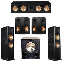 Klipsch 5.1 Black Ash System with 2 RF-7 III Floorstanding Speakers, 1 RC-64 III Center Speaker, 2 Klipsch RP-250S Surround Speakers, 1 Klipsch PL-200II Subwoofer
