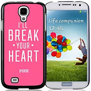 Hot Sale Samsung Galaxy S4 I9500 Case ,Unique And Lovely Designed With Victoria's Secret Love Pink 84 in Black Samsung Galaxy S4 Cover