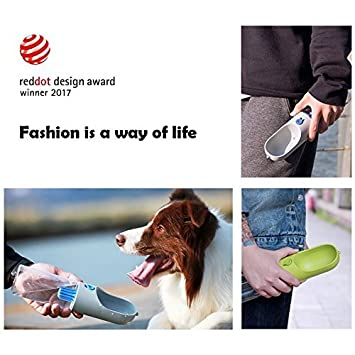 Petkit Grey Smart Travel Bottle for Dogs Reversible Filtered Instachew Dog Bottle Leak Proof