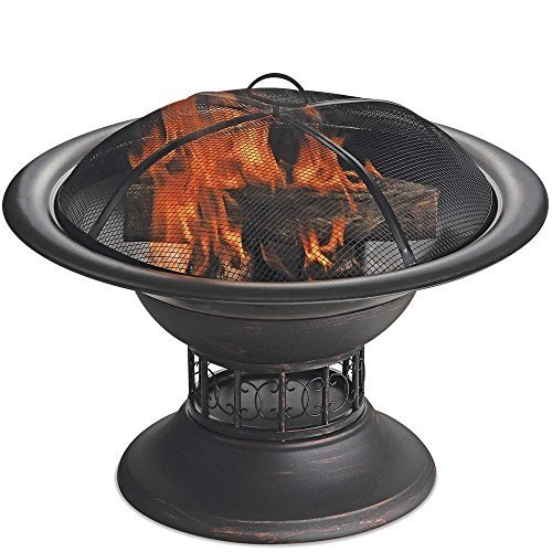 Endless Summer WAD15129MT Brushed Copper Wood Burning Outdoor Firebowl by Endless Summer ()