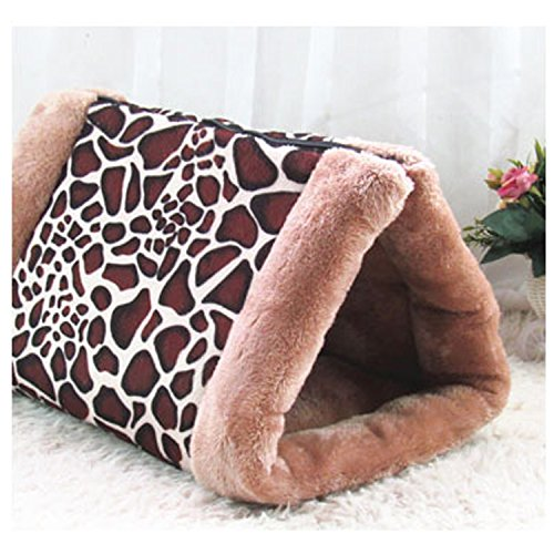 S-Lifeeling 2-in-1 Cat Pet Bed Tunnel Fleece Tube Indoor Cushion Mat Pyramid Pad for Dog Puppy Kitten Kitty Kennel Crate Cage- Shack House-Color Random (Best Price Coffee Machines Australia)