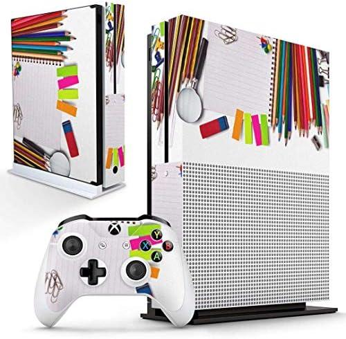 igsticker Xbox One S 専用 スキンシール 正面・天面・底面・コントローラー 全面セット エックスボックス シール 保護 フィルム ステッカー 005932