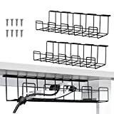 Under Desk Cable Management Tray 2 Packs, 16 inches