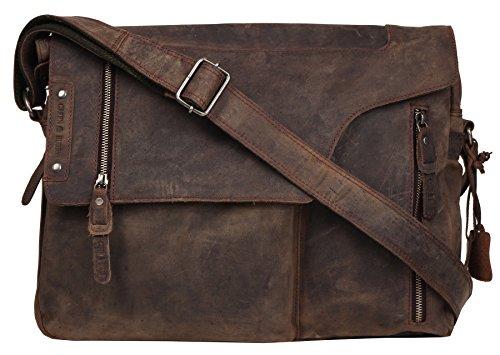Greenburry Vintage Revival Vol.2 borsa a tracolla pelle 40 cm brown