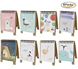 8 PCS Mini 2018 Desktop Paper Calendar Daily Scheduler Table Planner Yearly Agenda Organizer