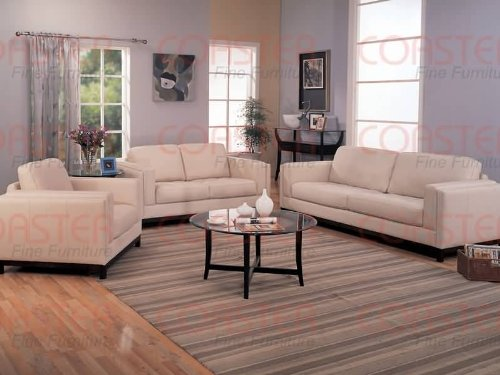 - Metro Contemporary Sofa Set Brown 100% all Leather,Sofa+Loveseat+Chair