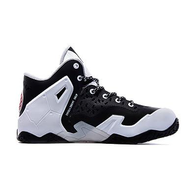 JDShoes Men's Black White Kings Basketball Shoes UK7 Black White