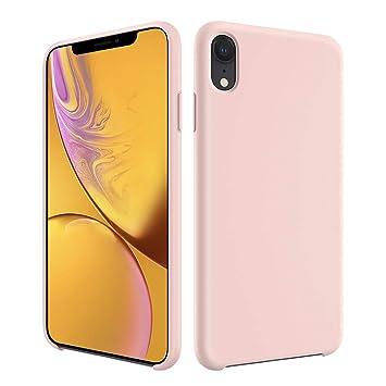 EasyAcc Funda para iPhone XR Silicona Líquida Carcasa Suave y Delgada con Forro de Microfibra Case A Prueba de Golpes y Funda Protectora para iPhone ...