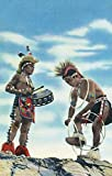 Pueblo Indians Dancing the Hoop Dance (12x18 Art Print, Wall Decor Travel Poster)