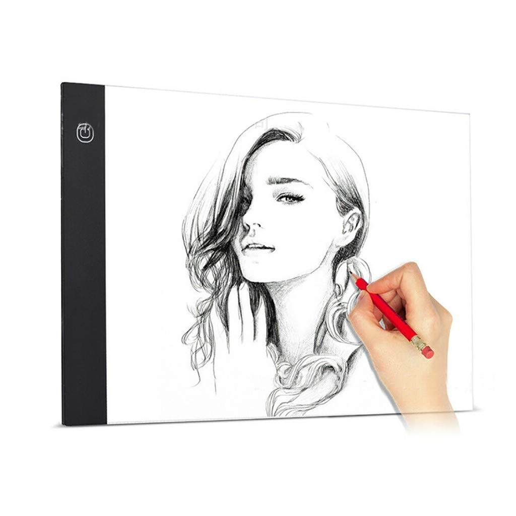 A4 LED Light Box Tracing Pad,Portable Ultra-Thin Brightness Dimmable Drawing Light Pad,USB Powered Artcraft Light Box Tracer for Artcraft Sketching Animation Drawing Diamond Painting