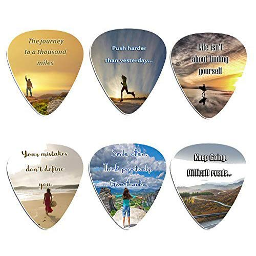 Guitar Picks with Inspirational Quotes (12 Pack) NEWEIGHTS 787392510903