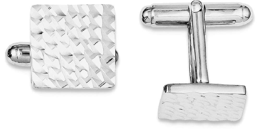 ICE CARATS 925 Sterling Silver Square Cuff Links Mens Cufflinks Man Link Fine Jewelry Dad Mens Gift Set by ICE CARATS (Image #2)