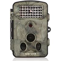 Crenova Game and Trail Camera 12MP 1080P HD With Time Lapse 65ft 120° Wide Angle Infrared Night Vision 42pcs IR LEDs 2.4 LCD Screen Scouting Camera Deer Camera
