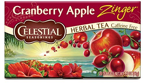Celestial Seasonings Herb Tea Cranberry Apple Zinger, 20 Count (Pack of - Celestial Cranberry Seasonings