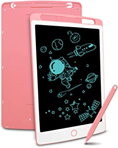 LCD Writing Tablet, Richgv 8.5 Inch Doodle Board Kids Drawing Tablet, Doodle Pad Light Drawing Board for Kids Pink