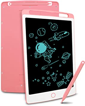 Writing Board Easy to Carry LORGDFDF Creative 3 Pcs Childrens LCD Tablet Color : Pink, Size : 10.5 inches Drawing Board Electronic Graffiti Board