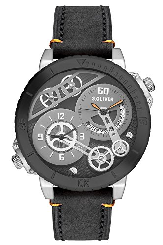 s.Oliver - Analog quartz Wristwatch, Leather