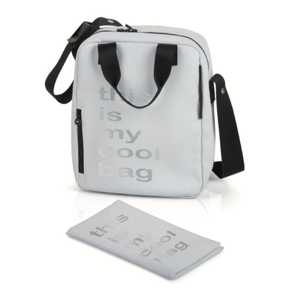 Be Cool Papa Bag–Borsa fasciatoio bianco