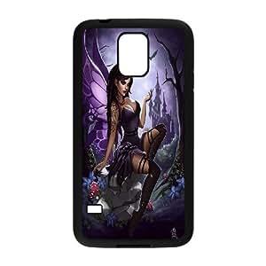 Samsung Galaxy S 5 Case Fairy Sexy Girl Bat Fort in Purple Sky Black Yearinspace YS366847