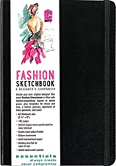 Create your own original designs with this sleek Essentials Fashion Sketchbook!Packed with lightly rendered figures in varied poses, this journal will help bring your inspirations to life.There are also foot templates for shoes and heads for ...