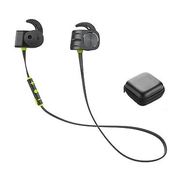 Y1Cheng Auriculares Bluetooth Auriculares Inalámbricos Bluetooth Impermeable Bass-Sport Auriculares Estéreo con Micrófono Auriculares HD Verde: Amazon.es: ...