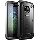 SUPCASE Moto G5 Plus Case, Full-Body Rugged Holster Case with Built-in Screen Protector for Moto G Plus (5th Generation) 2017 Release, Unicorn Beetle PRO Series - Retail Package (Black/Black)