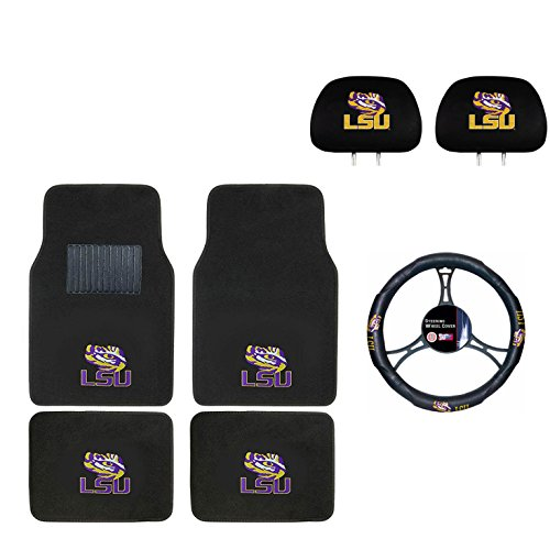Lsu Seat Tigers Cover - LSU Seat Cover,Floor mat, and wheel cover. You get 2 Seat Cover 4 Floor Mat and 1 Wheel Cover in this gift set. Perfect to LSU Tiger Fan