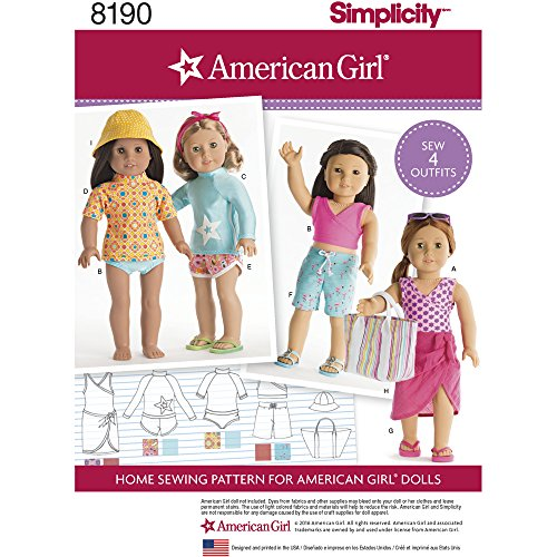 Simplicity 8190 American Girl Doll Clothes for 18