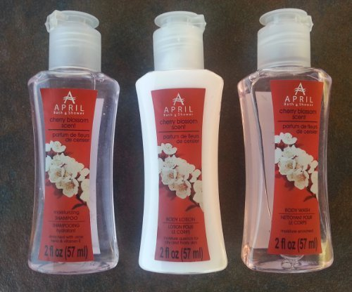 April Cherry Blossom Scent Travel Set of 3