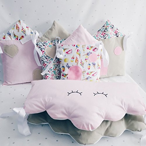 Baby Crib lovely Bedding set for Girl with bumpers by Tutti Handmade Studio