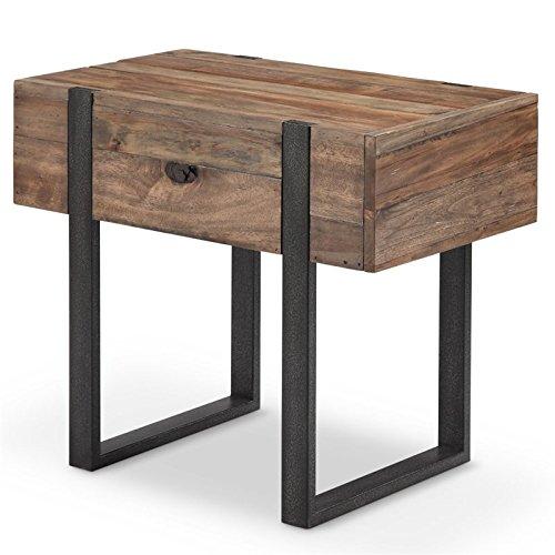 (Magnussen Prescott Modern Chairside End Table in Rustic Honey )