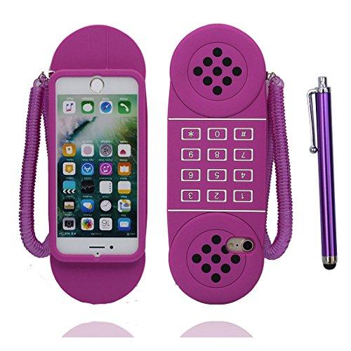 """Apple iPhone 6 Plus Coque (5.5""""), [ de matériau TPU souple pourpre téléphone ] iPhone 6s Plus étui (5.5 pouces), poussière glissement résistant aux rayures, iPhone 6 Plus Case et stylet"""