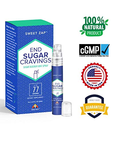 Seynani Sweet Zap Sugar Blocker Spray. End Sugar Cravings and Sugar Addiction. Sugar Craving Suppressant. Gymnema Sylvestre. (1_Bottle)