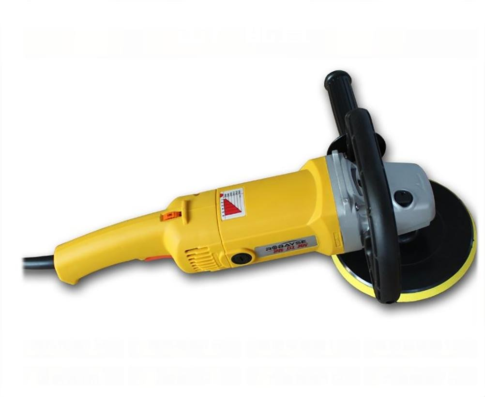 ROBAYSE Professional car Polisher 6 files speed floor waxing machine , yellow by ROBAYSE (Image #1)