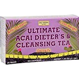 Only Natural Ultimate Acai Dieters And Cleansing Tea - 24 Tea Bags - Antioxidant - Lose Weight - Detoxify - Vegan - No Caffeine