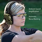 Howard Leight by Honeywell Impact Sport Sound Amplification Electronic Shooting Earmuff, Classic Green (R-01526) - 2