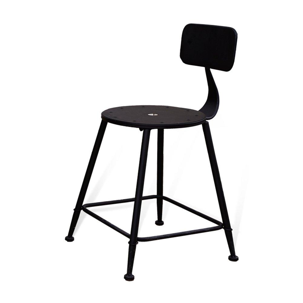 ERRUアメリカのソリッドウッドバースツールカフェティーショップアイアンアート45センチメートルハイレジャーチェアバーチェアに座って バーチェア ( 色 : 鉄 , サイズ さいず : 5 piece ) B07C3QL7D2 5 piece 鉄 鉄 5 piece