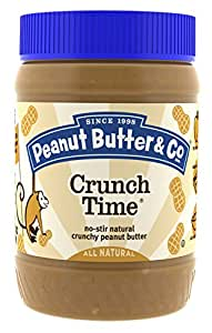 Peanut Butter & Co. Peanut Butter, Non-GMO, Gluten Free, Vegan, Crunch Time, 16 Ounce Jars (Pack of 6)