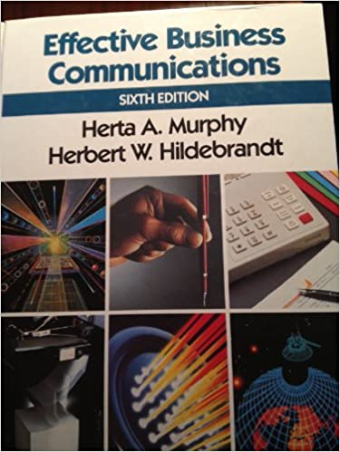 Effective Business Communication Murphy Pdf