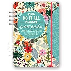 Orange Circle Studio 2018 Do It All Planner, Aug. 2017 - Dec. 2018, Secret Garden