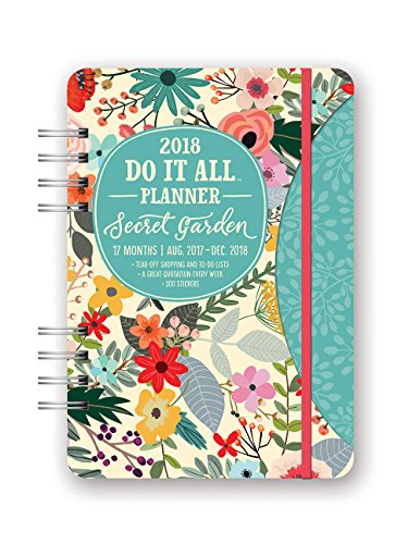 Orange Circle Studio 2018 Do It All Planner - Aug. 2017 - Dec. 2018 - Secret Garden