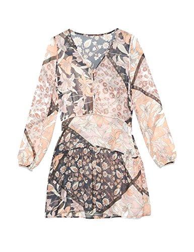 georgette in Vestito Size Italian Rosa Motivi fantasia EwtqwZ