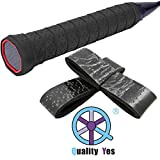 QY 2Pack Widened Perforated Super Absorbent Tennis Racket Overgrip Anti Slip Badminton Racket Tape Wrap Table Tennis Racket Tape
