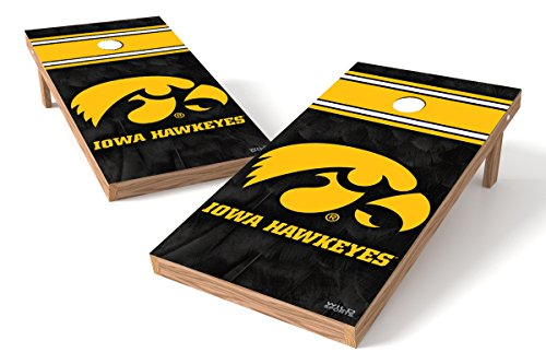 Wild Sports NCAA College Iowa Hawkeyes 2' x 4' Authentic Cornhole Game Set - Iowa Hawkeyes Ncaa Bean Bag