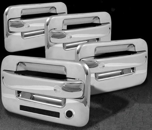 MaxMate 04-13 Ford F150 Not for Heritage Chrome 4 Doors Handle Cover W//O Passenger Side Keyhole With Key Pad