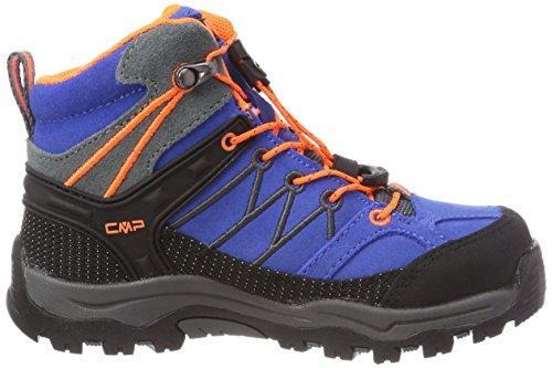 Fluo CMP Zaffiro Rigel Unisex Blue Hiking Rise High orange Grey grey Boots Kids' 7Haxnzw7