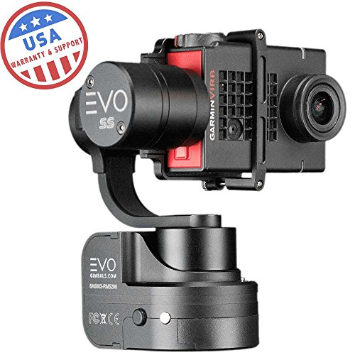 EVO Gimbals EVO SS 3 Axis Wearable Gimbal for GoPro Hero3, Hero4 or Hero5 Black, Session, Garmin Virb Ultra 30, YI 4K - 1 Year US Parts & Labor Warranty by EVO Gimbals