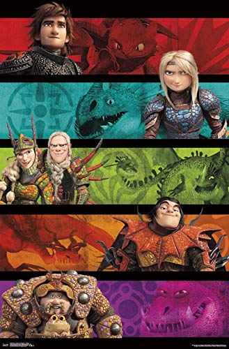 Trends International How to Train Your Dragon 3 - Group Wall Poster 22.375