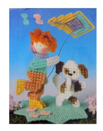 New Plastic Canvas Needlepoint Kite Flying (Puppy Needlepoint Kit)
